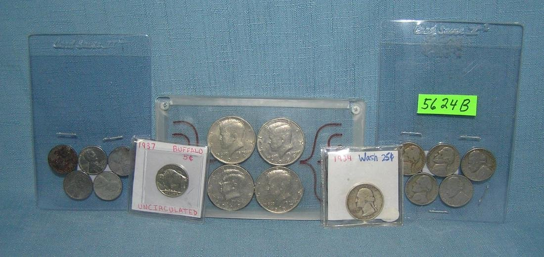 Group of 16 vintage US coins