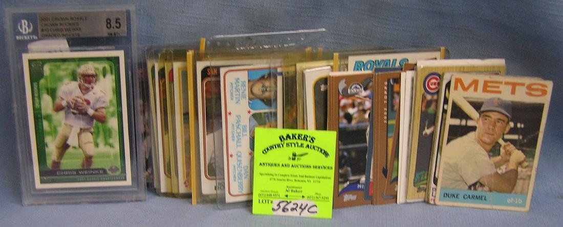 Vintage baseball all star cards including rookies