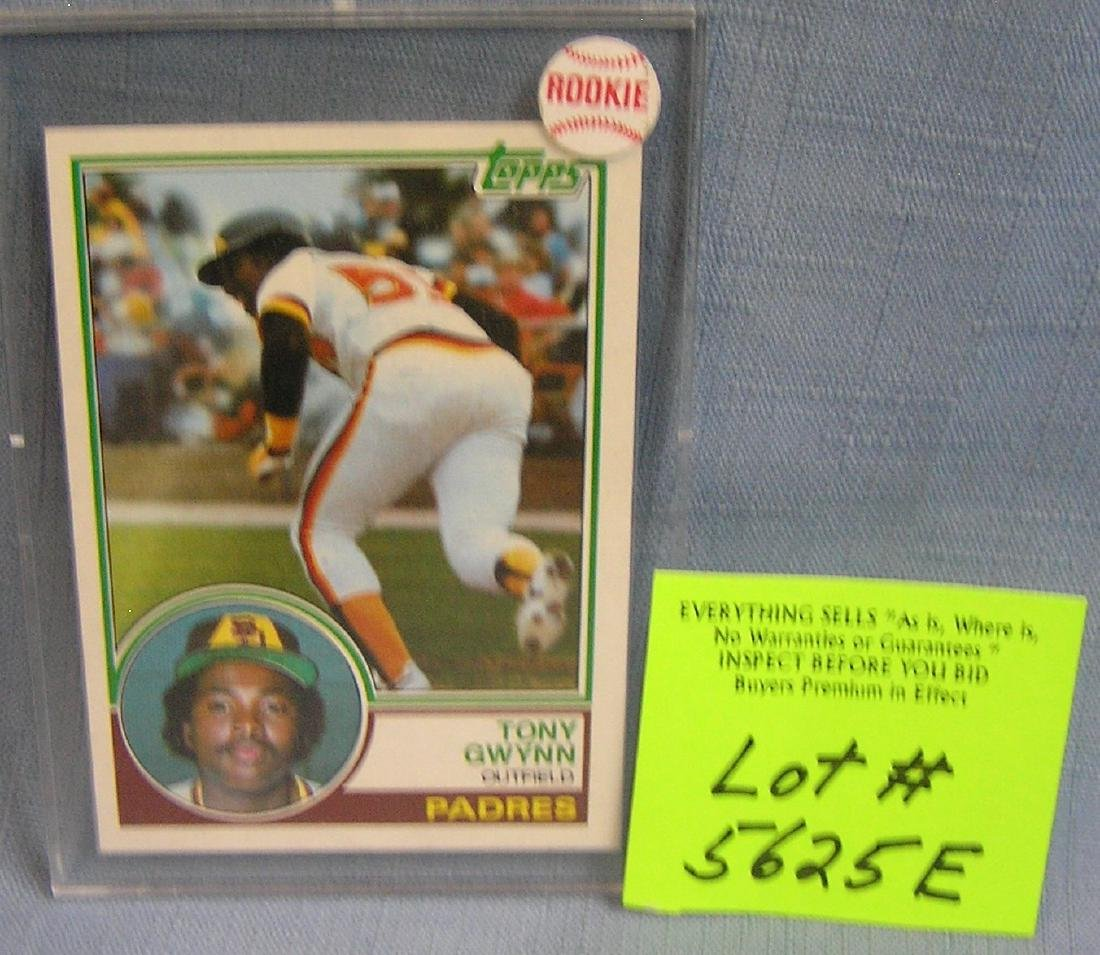 Vintage Tony Gwynn Topps rookie baseball card