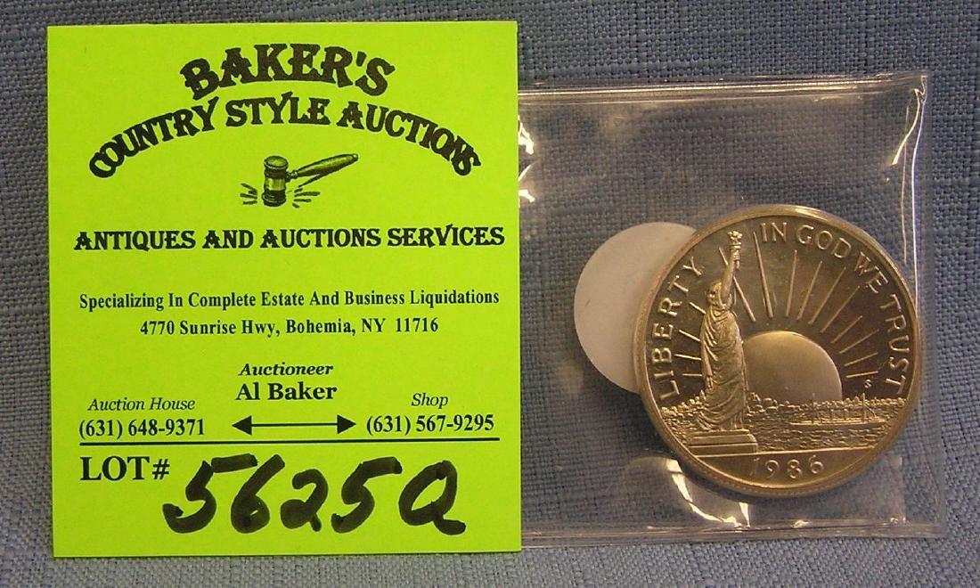 Vintage liberty commemorative half dollar coin
