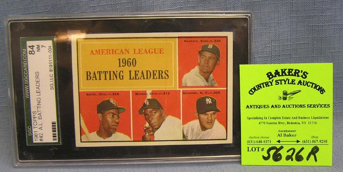 Topps American League batting leaders baseball card