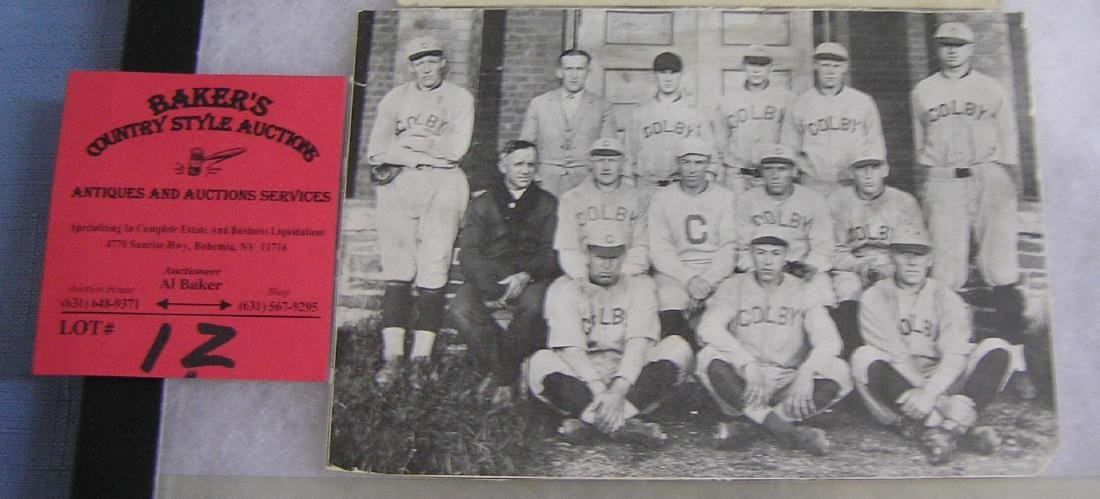 Early Colby College baseball team photo