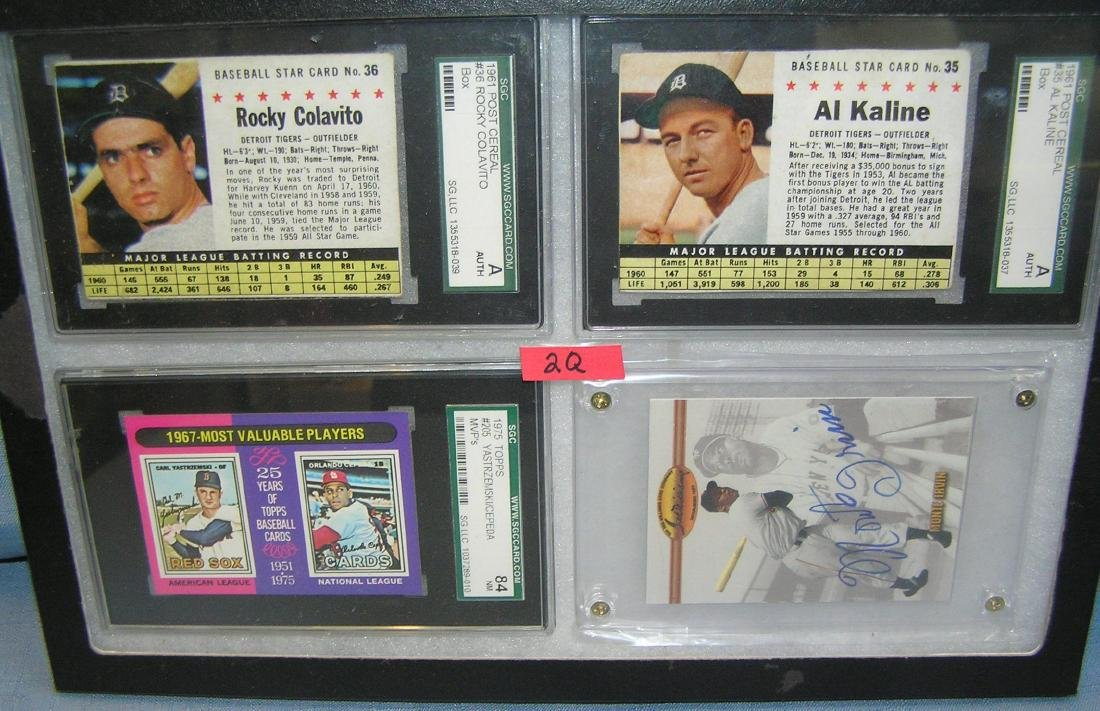 Group of graded and autographed baseball cards