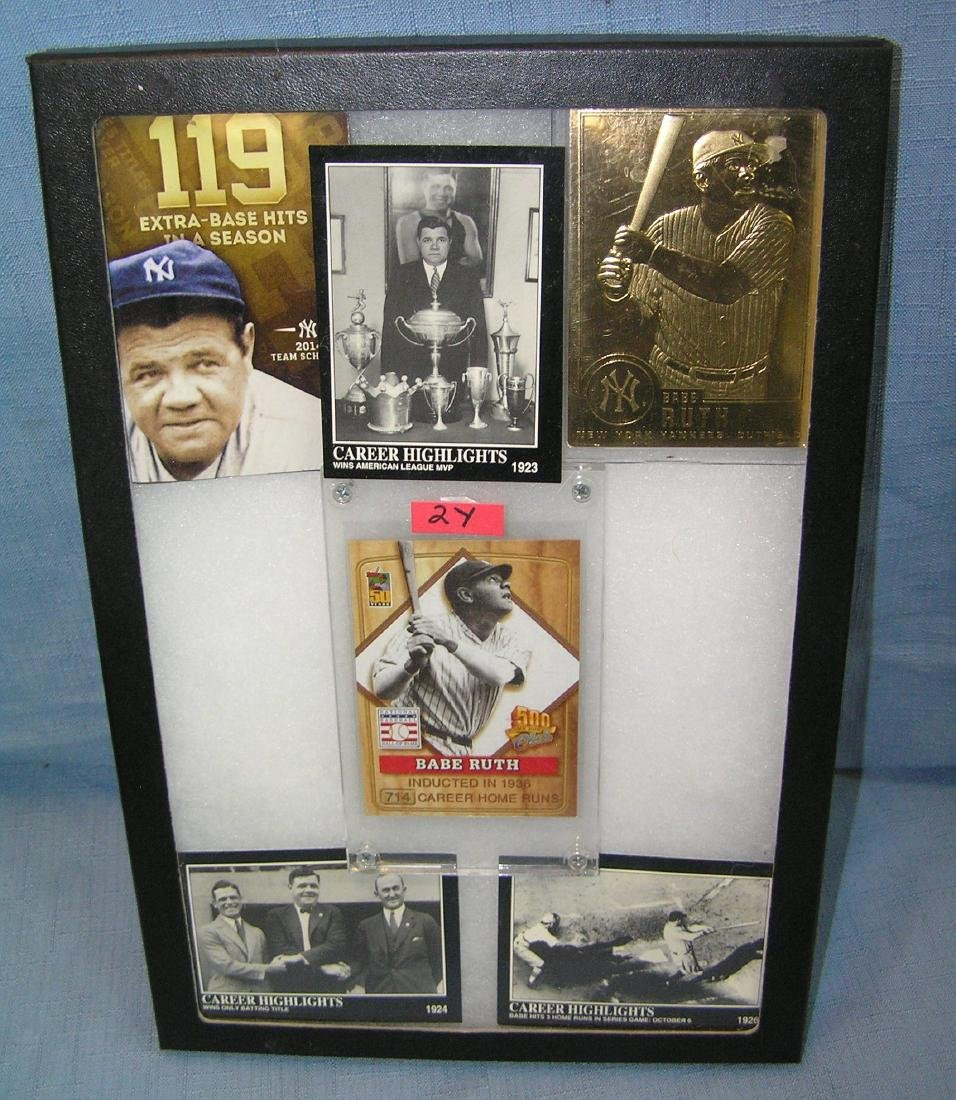 Babe Ruth all star baseball cards and booklet