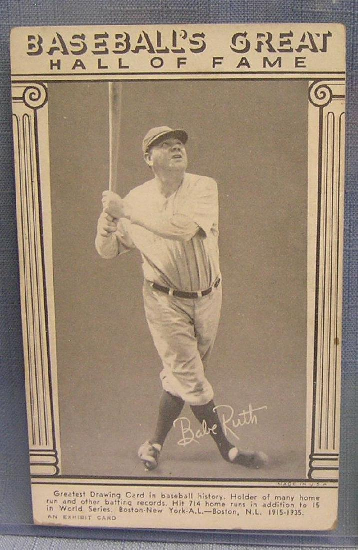 Vintage Babe Ruth Penny Arcade exhibit card
