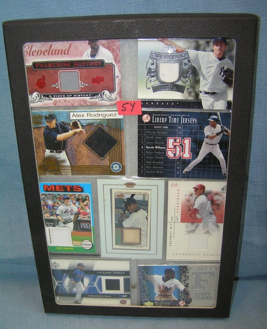 Uniform material made all star baseball cards