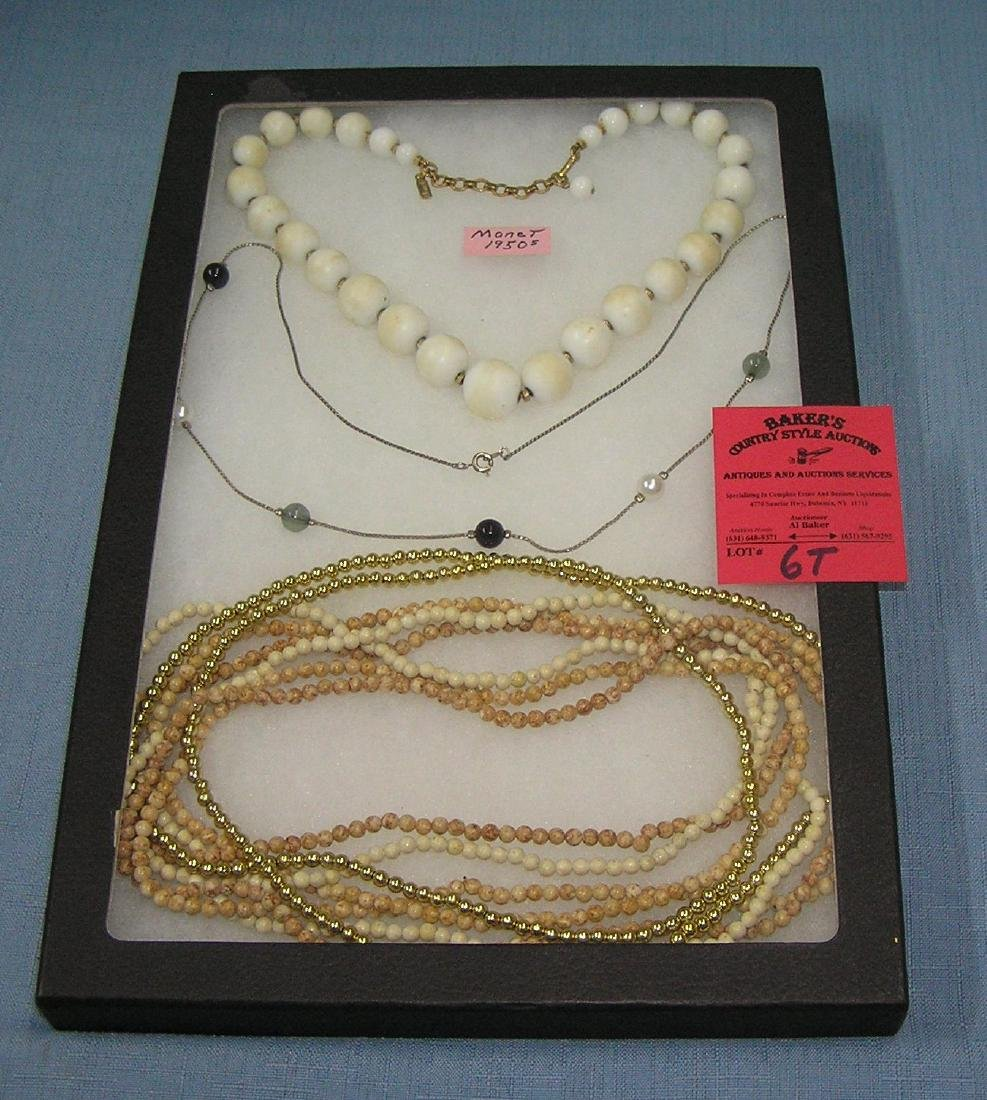 Group of quality costume jewelry necklaces