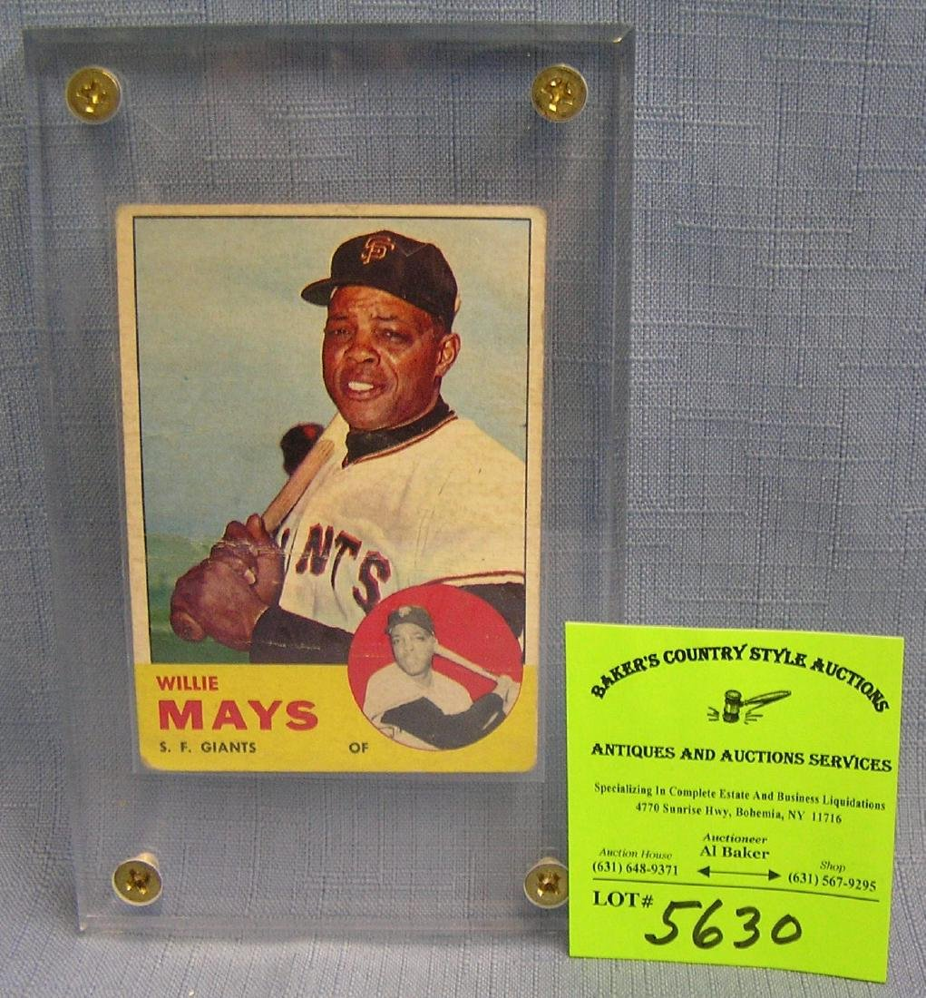 Vintage Willie Mayes Baseball card