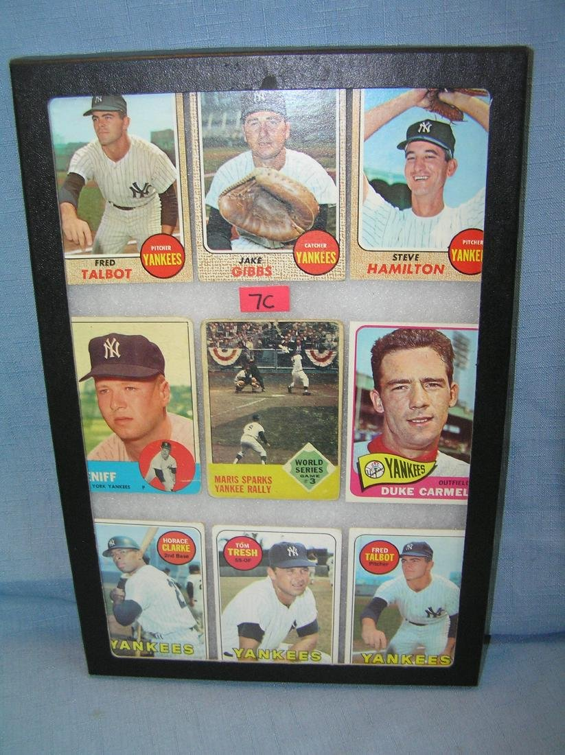 Group of early NY Yankees Topps baseball cards