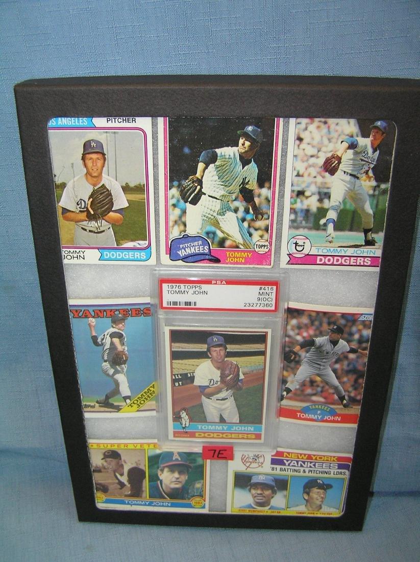 Group of vintage Tommy John baseball cards