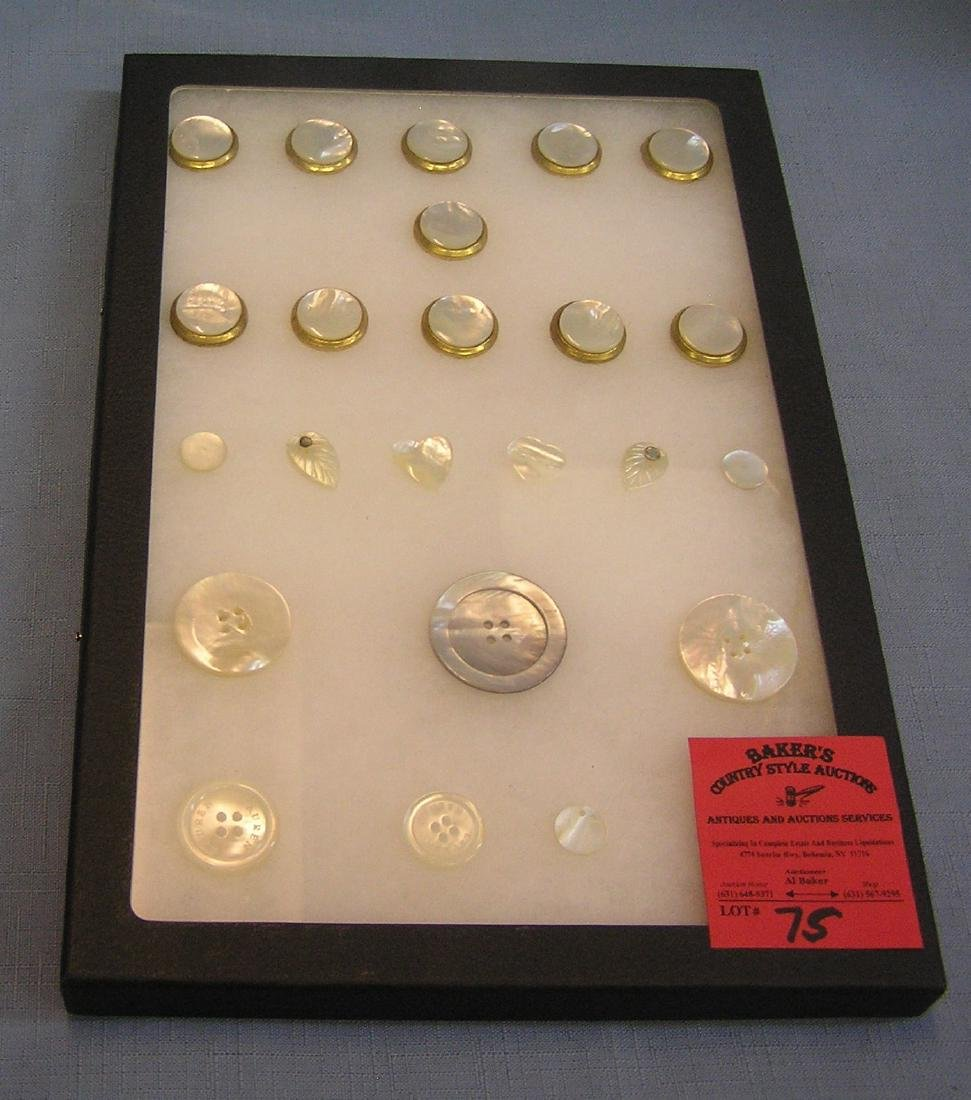 Great early Mother of Pearl button collection