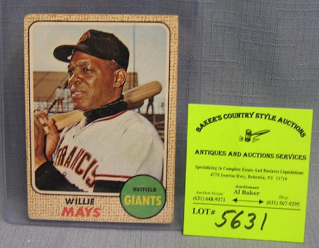 Vintage  Topps Willie Mays baseball card
