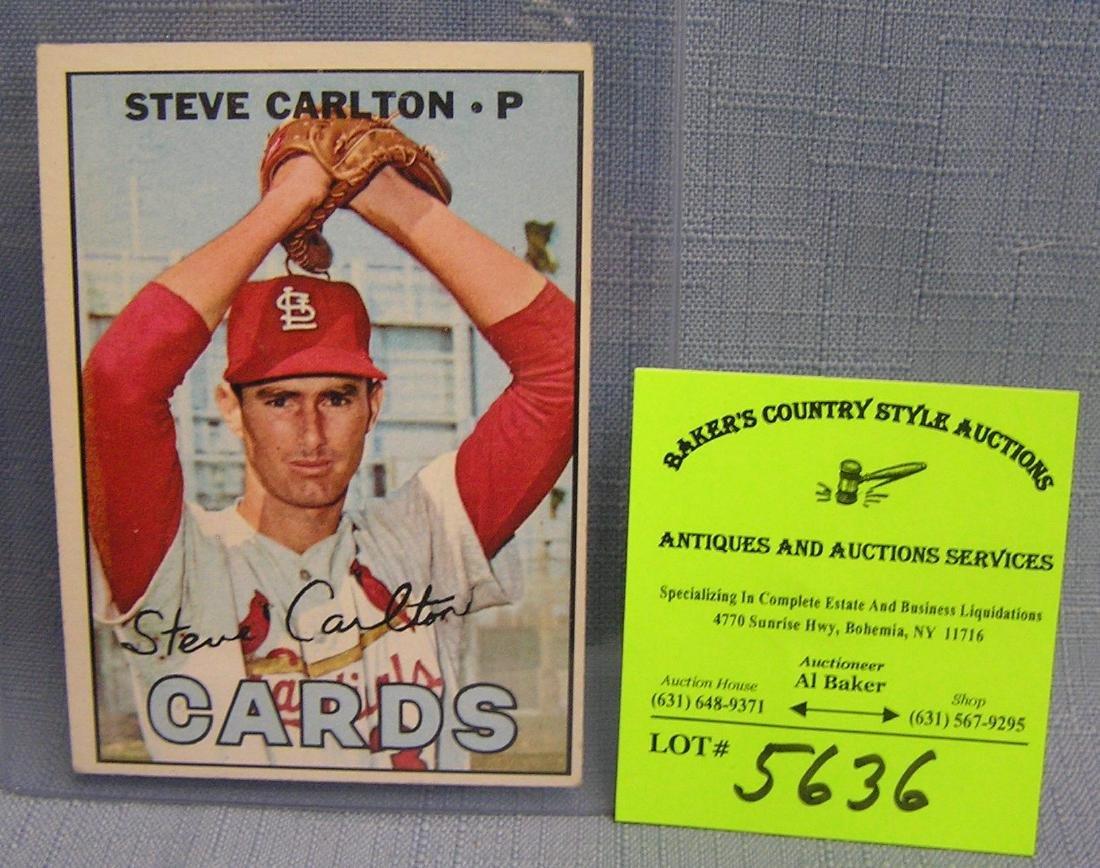 Vintage Steve Carlton baseball card