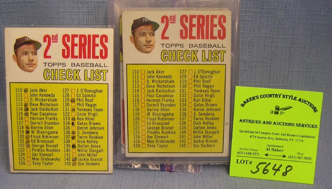 Vintage Topps baseball cards featuring Mantle