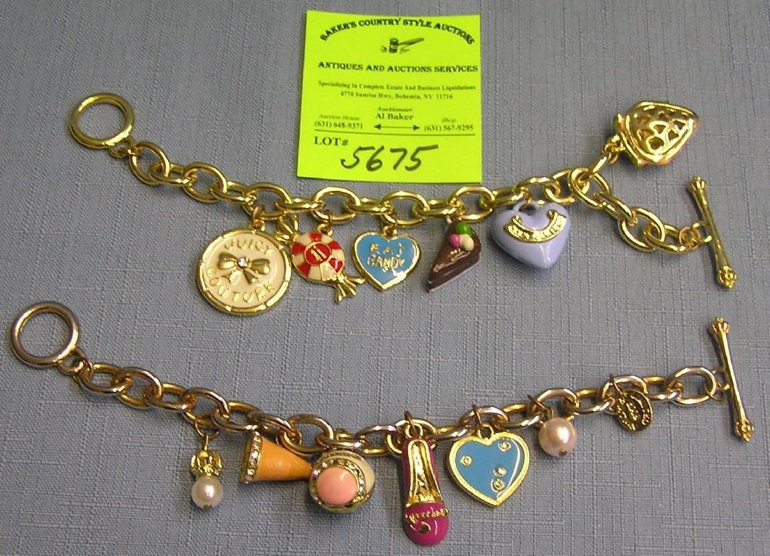 Pair of Juicy Couture bracelets