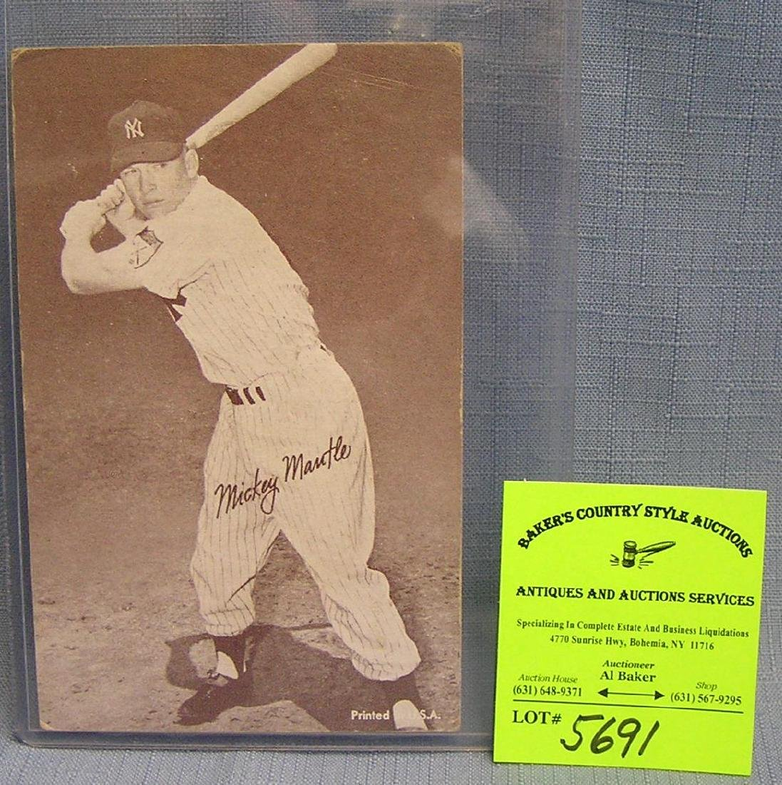 Vintage oversized Mickey Mantle baseball card