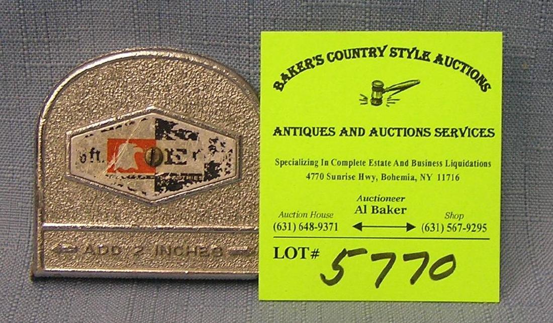 Vintage six foot retractable tape measure