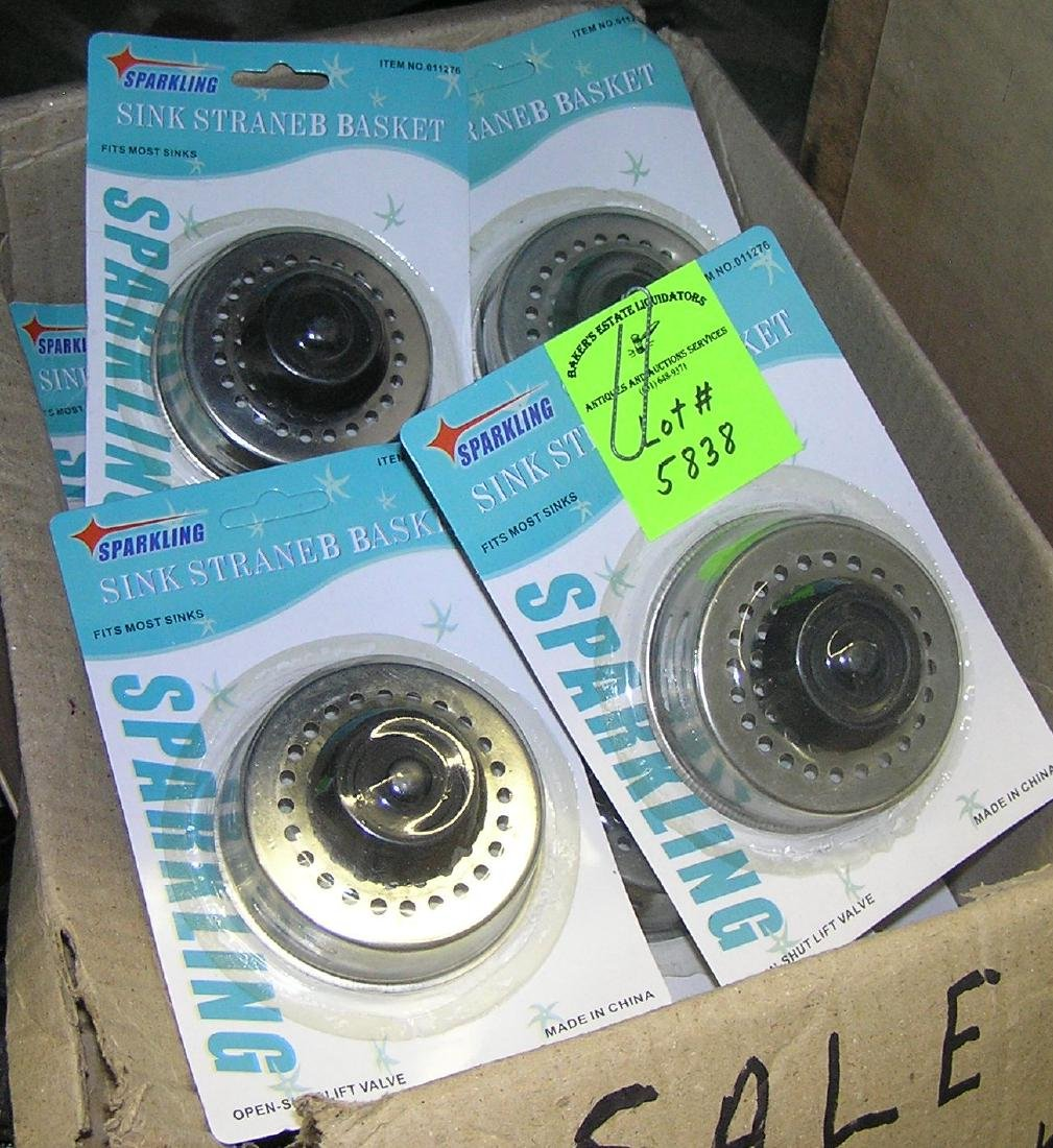 Brand new stainless steel sink strainers