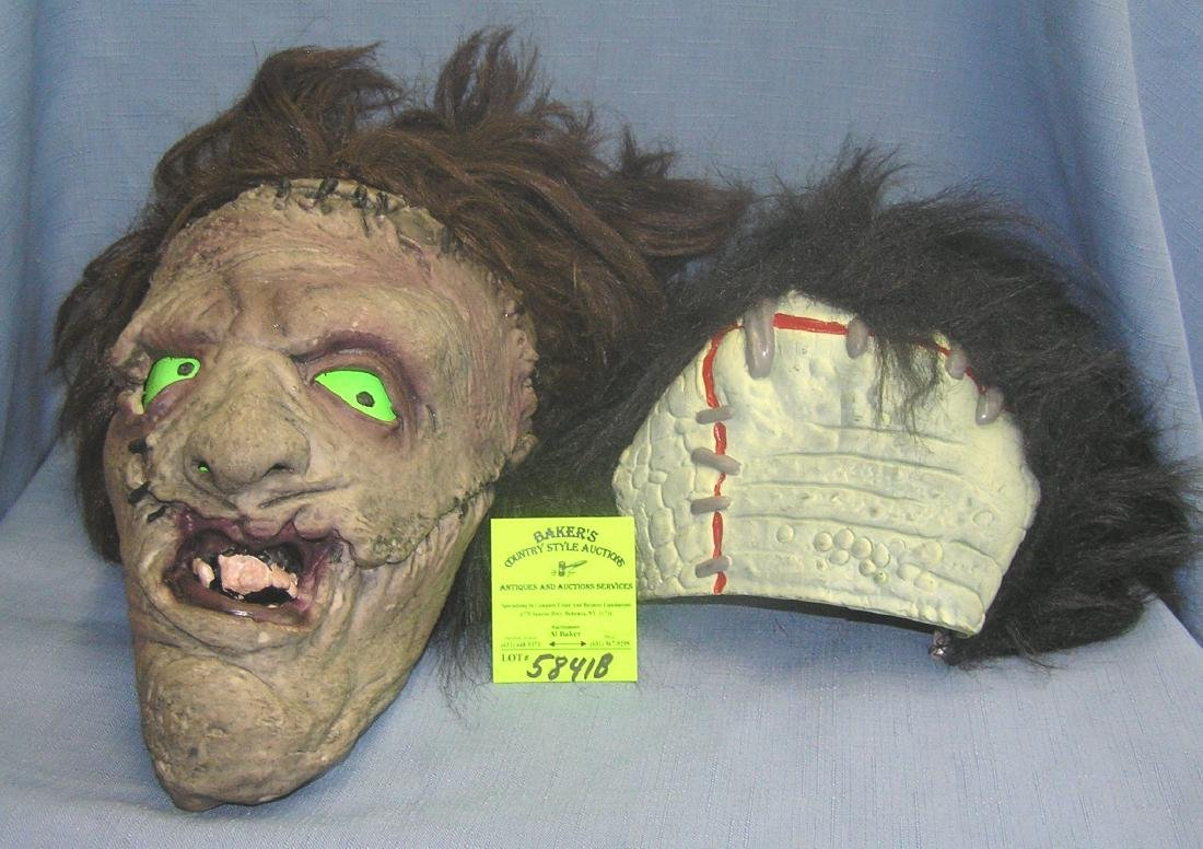 Pair of vintage Halloween rubber masks