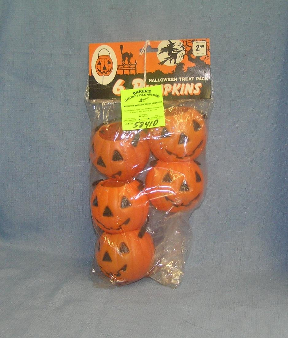 Group of 5 vintage decorative pumpkins