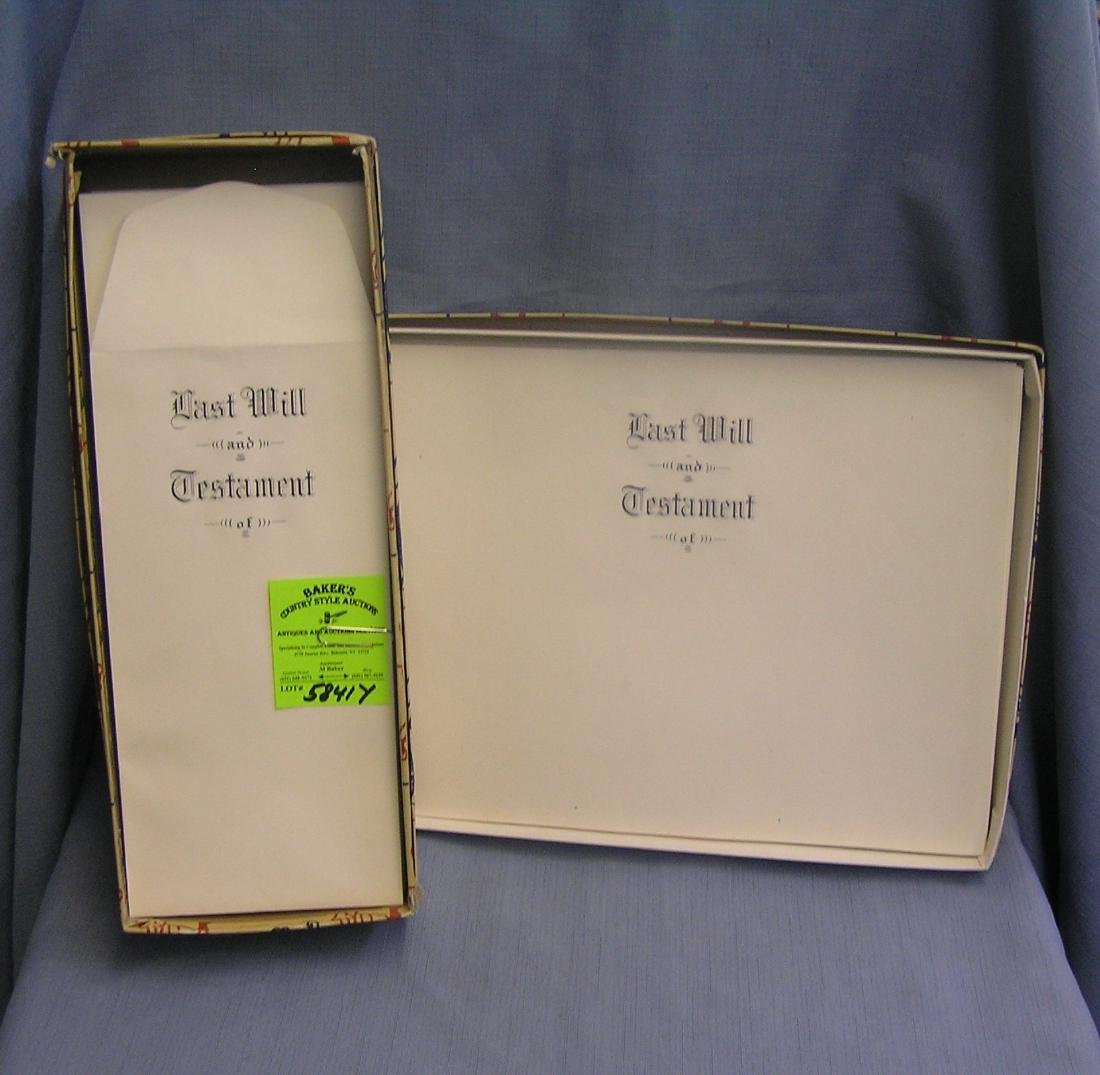 Last Will and Testament documents and envelopes