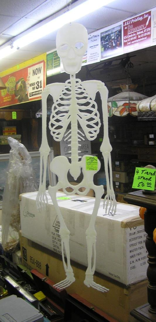 45 inch hanging glow in the dark skeleton