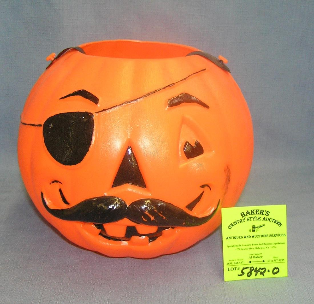 Vintage Jack O' Lantern trick or treat bucket