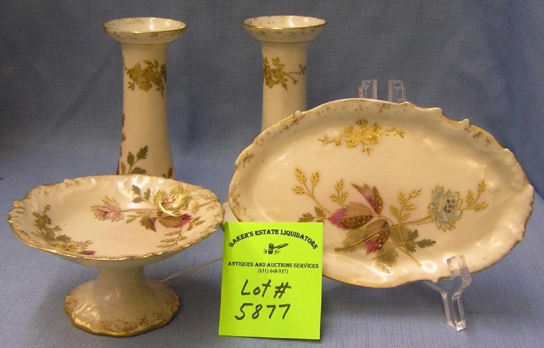 Vintage Limoges four piece dresser set