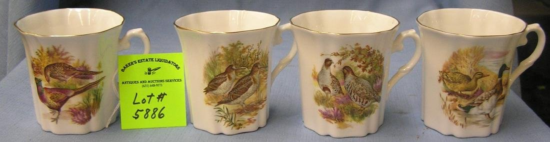 Set of four royal craften fine bone china cups