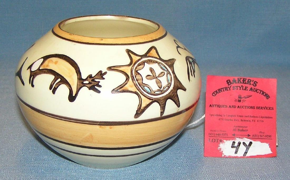 Hand painted Southwest decorated vase