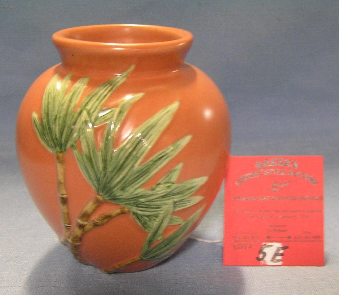 Painted palm tree decorated vase by Silvestri