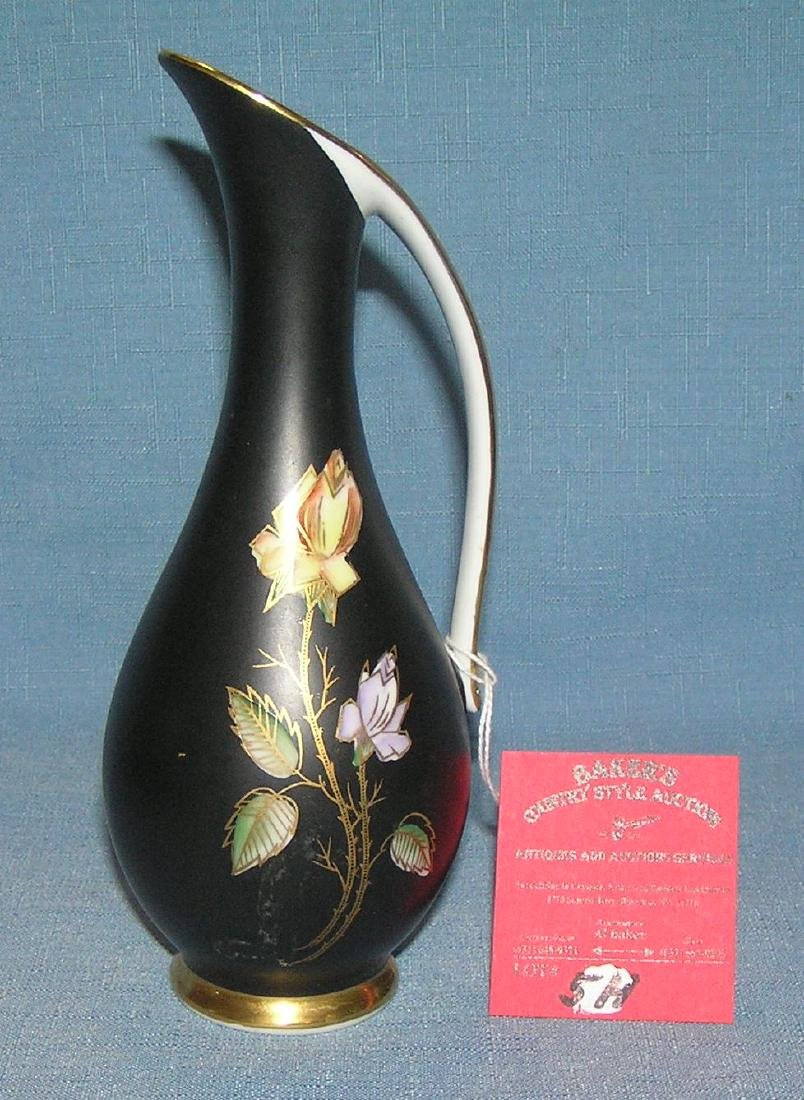 Floral decorated handled vase by Royal Bavaria