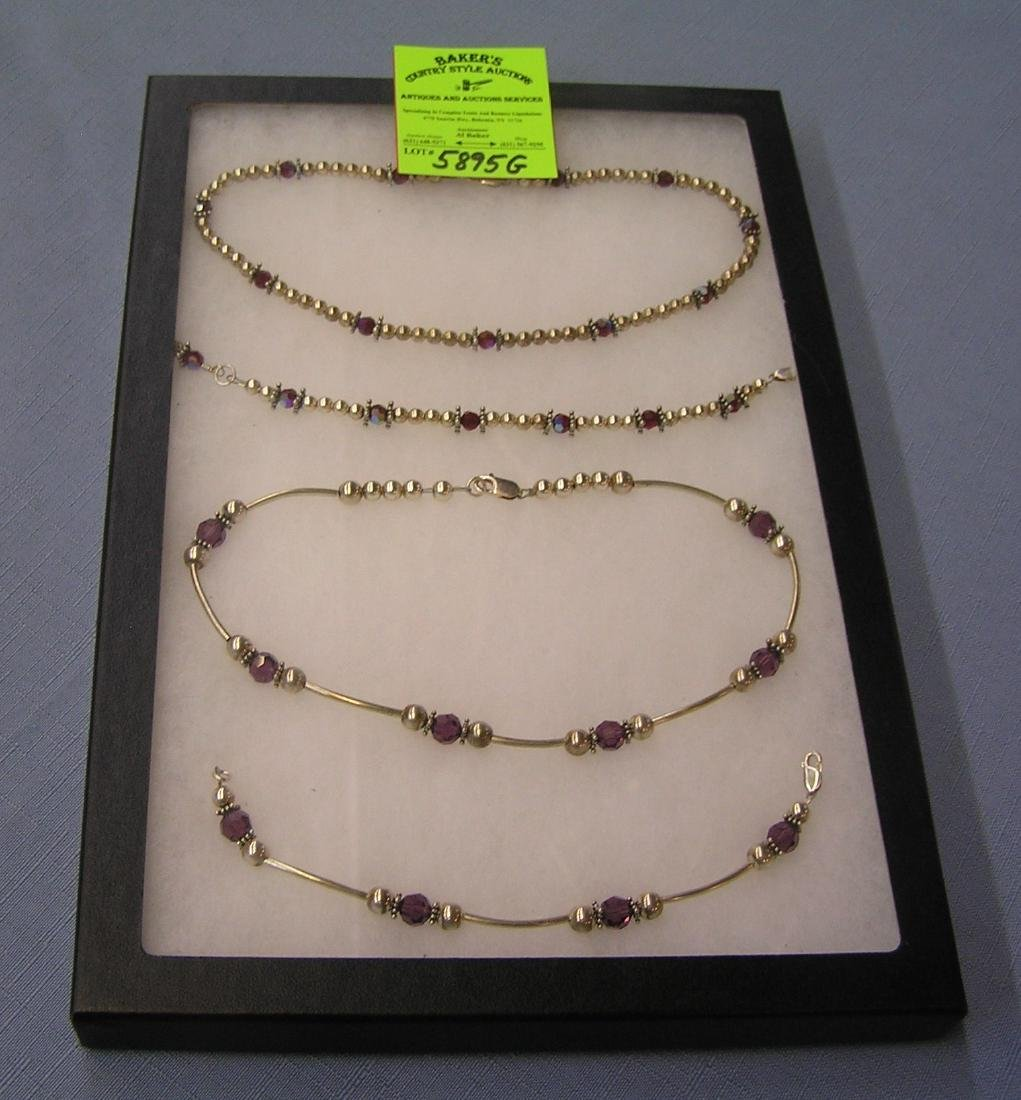 Group of quality necklace and bracelet sets