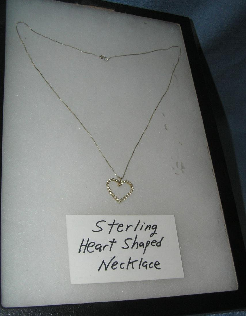 Sterling silver heart shaped necklace