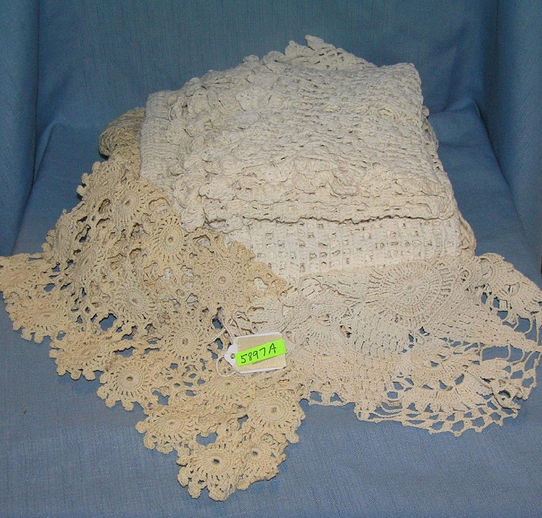 Group of early hand made linens