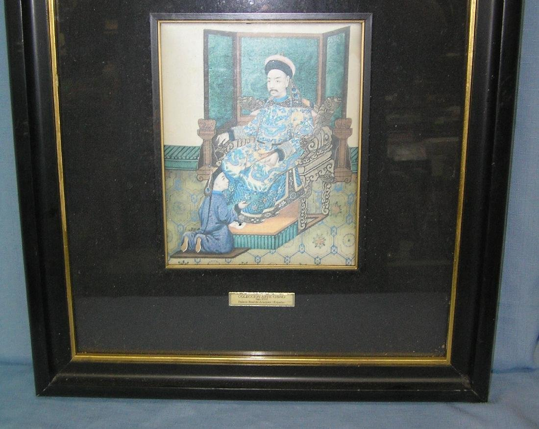 Silk Oriental art work matted and framed