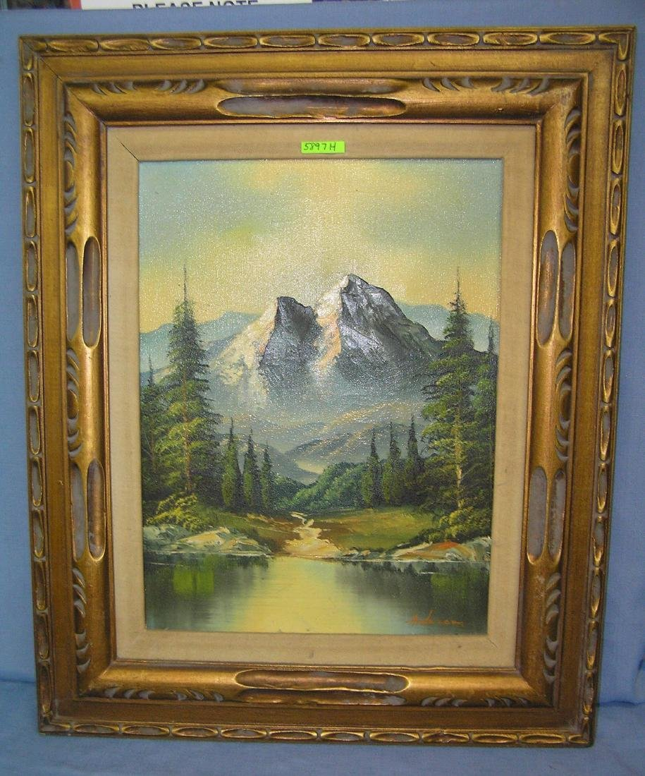 Artist signed oil on canvas signed Anderson