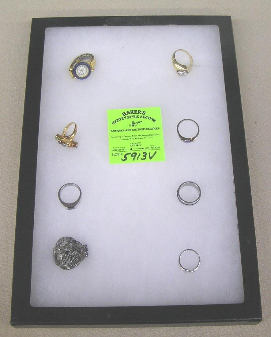 Collection of quality costume jewelry rings