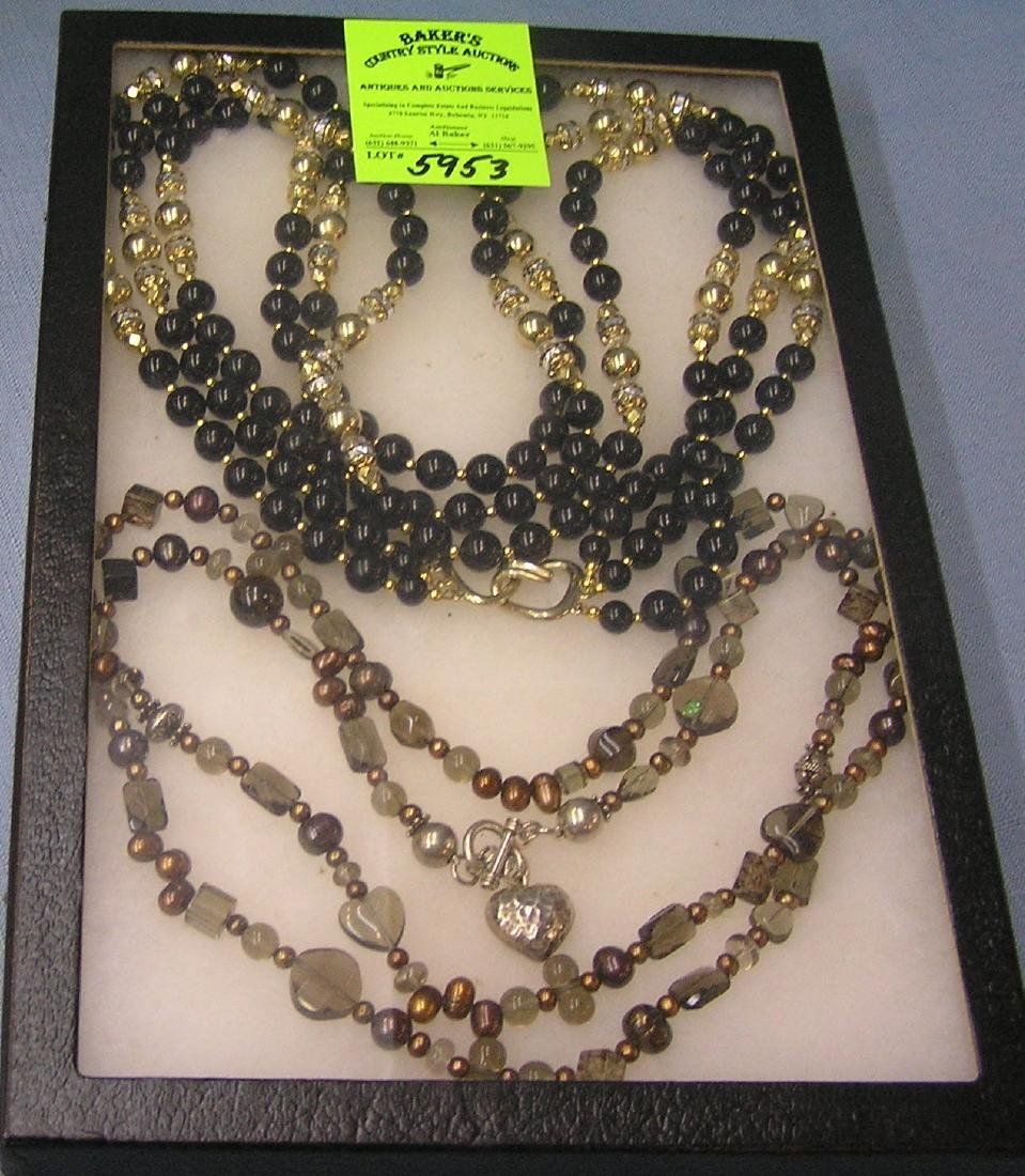 Pair of quality costume jewelry necklaces