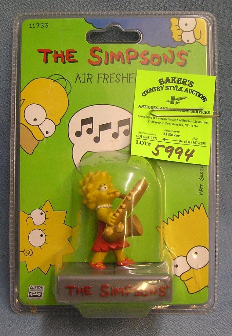 The Simpsons figural air freshener mint on card