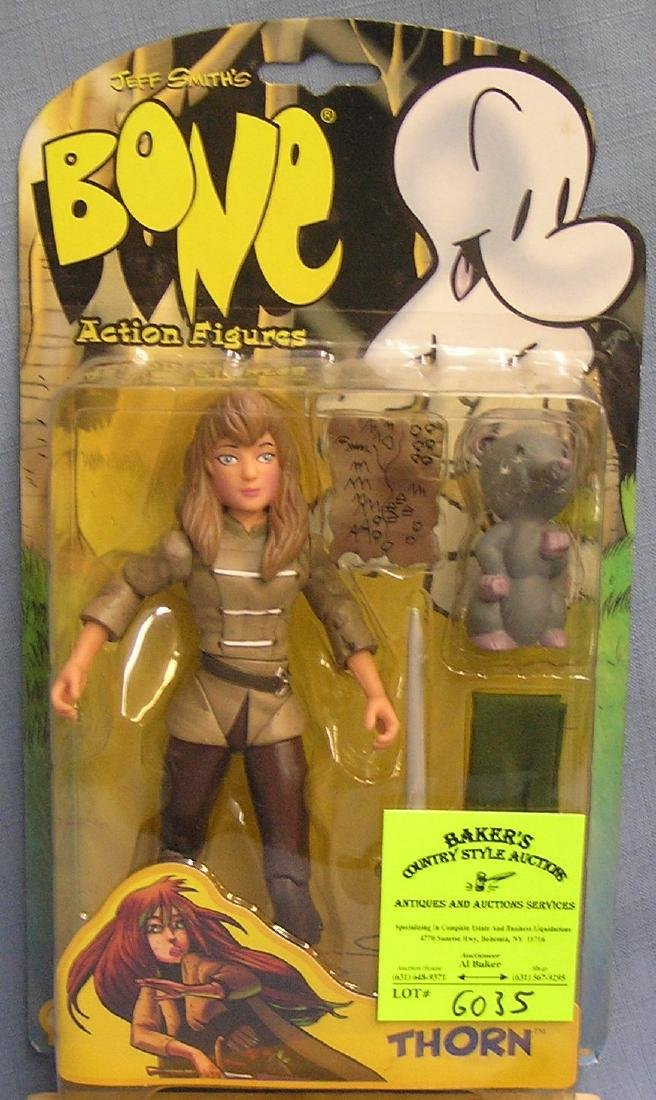 Bone action figure featuring thorn mint on card