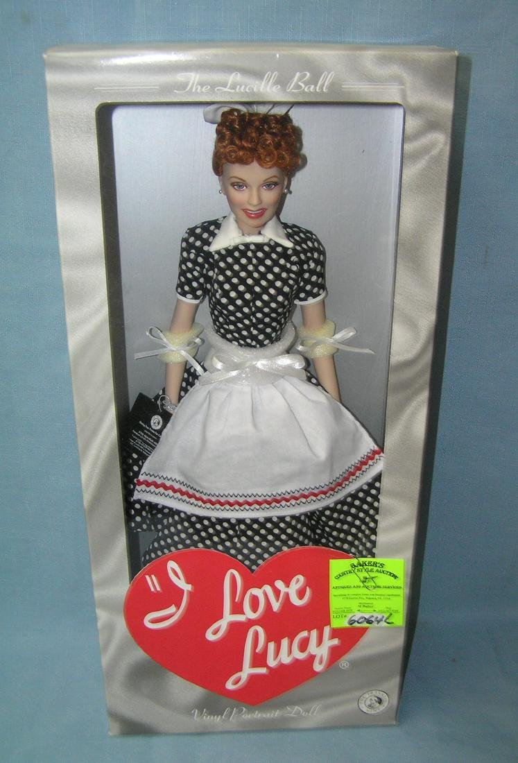 17 inch I Love Lucy vinyl portrait doll with original
