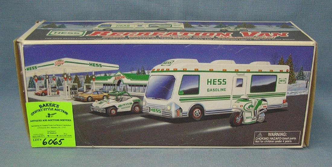 Hess recreation van with dune buggy and motor cycle