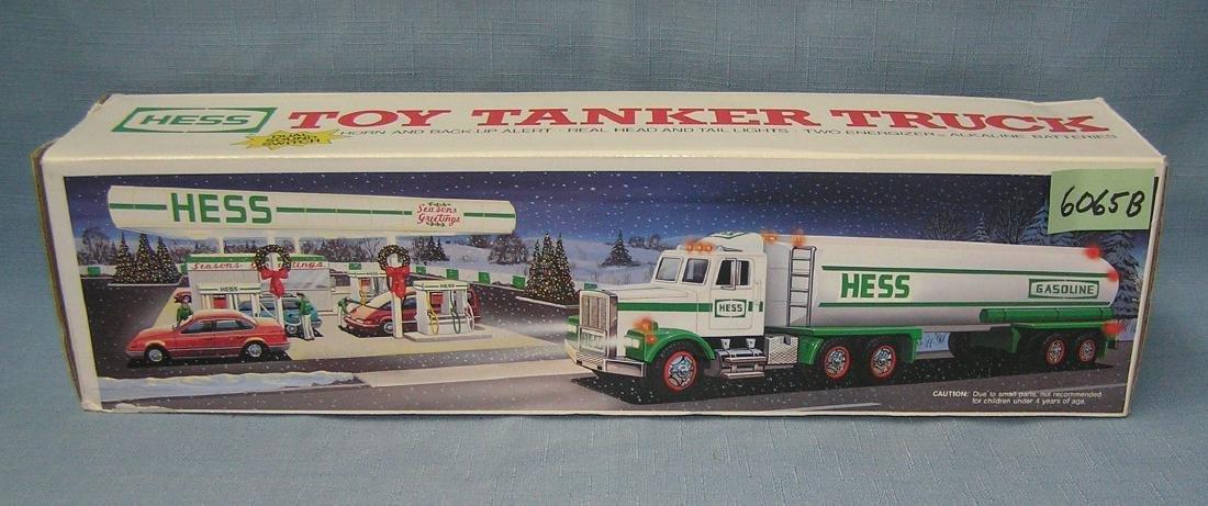Vintage Hess toy tanker truck