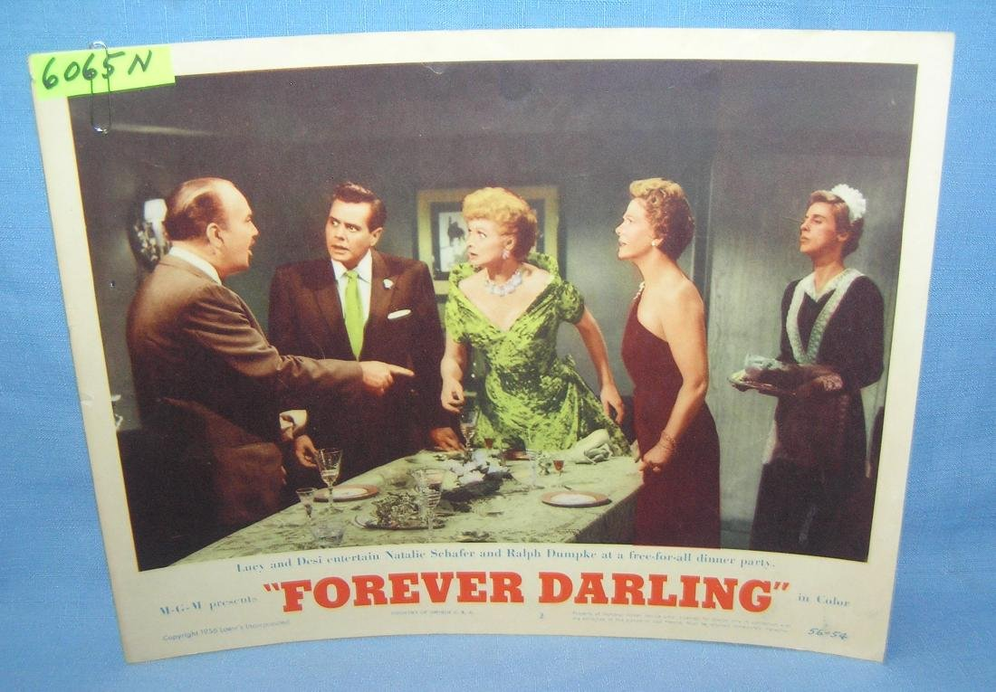 Lucy and Desi Arnaz movie poster Forever Darling 1956