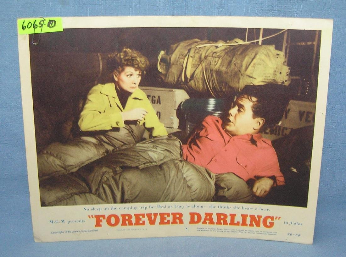 Lucy and Desi Arnaz movie poster Forever Darling 1957