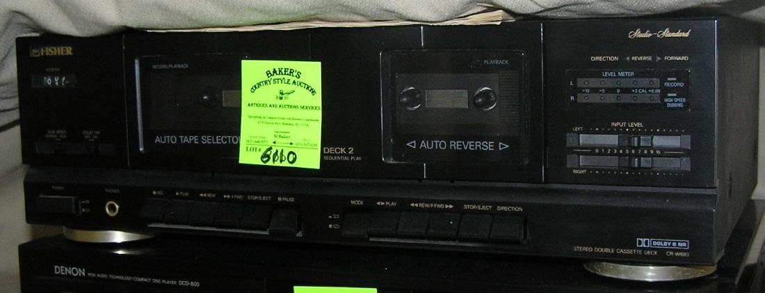Fischer stereo double cassettes deck with Dolby