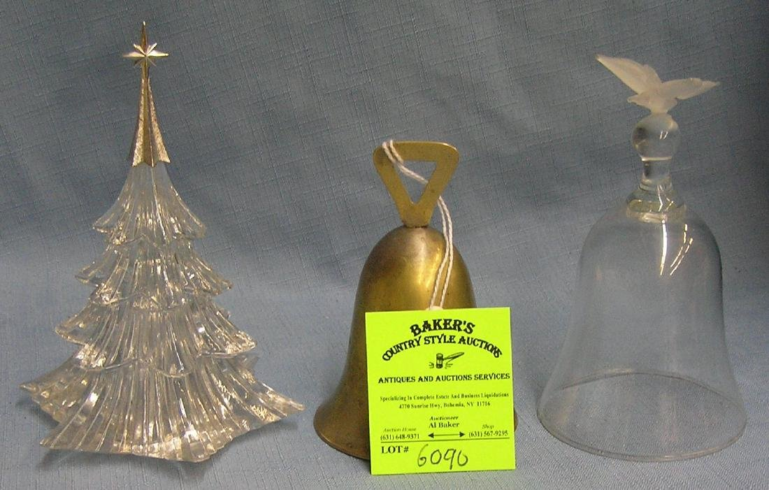 Collection of vintage holiday bells and collectibles