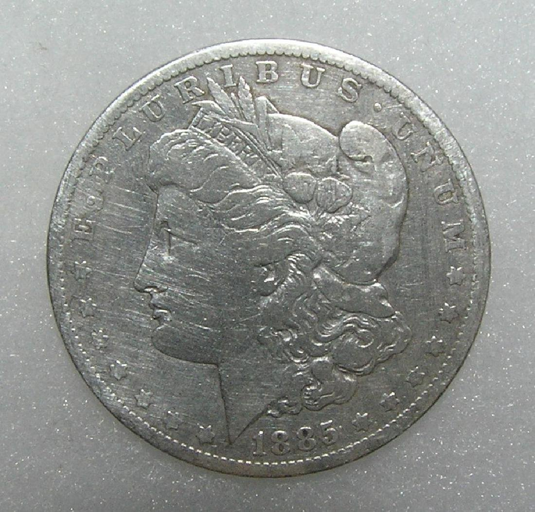1885-O Morgan silver dollar in very good condition