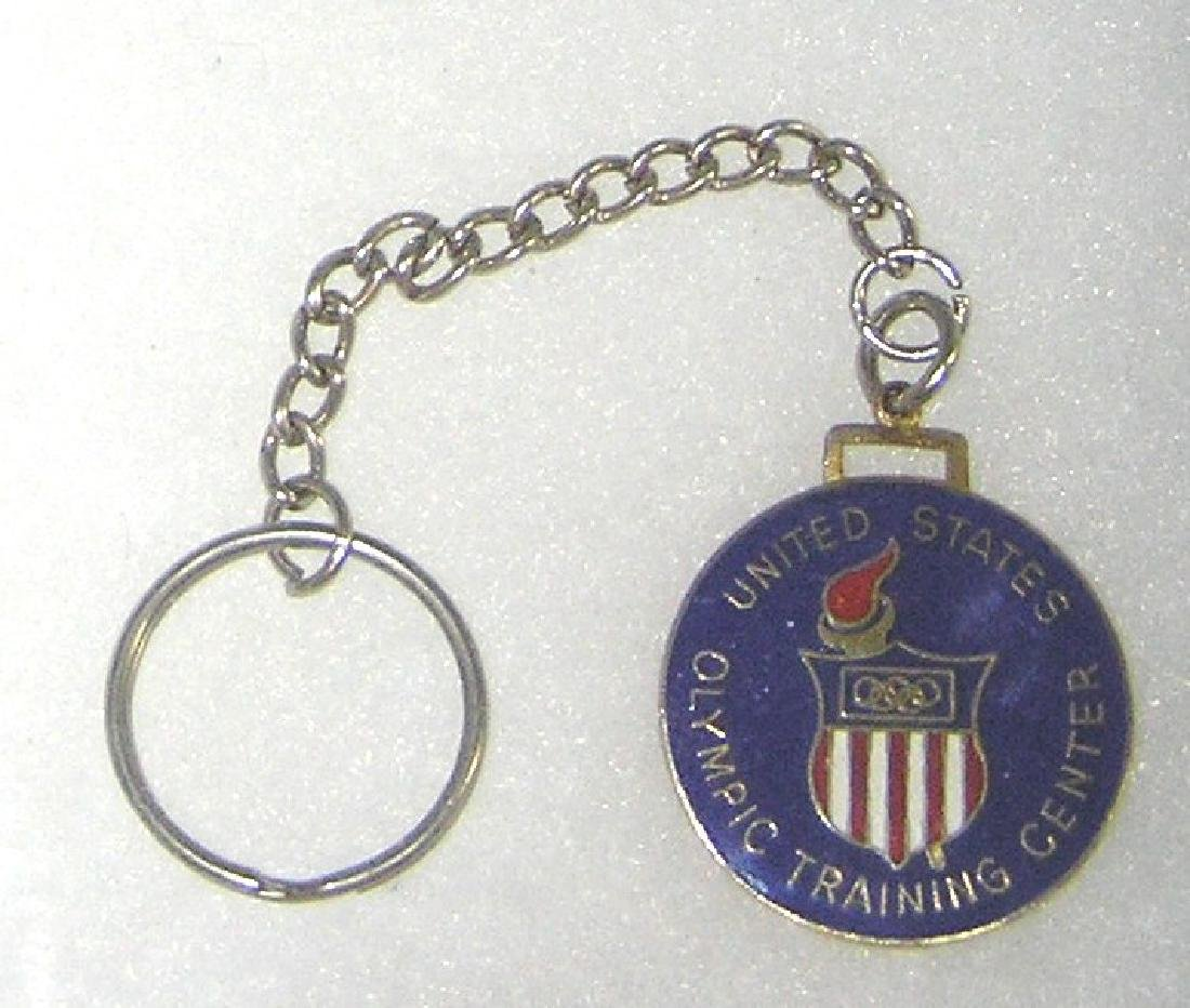 US Olympic training center enameled watch fob/key chain